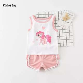 My Little Pony Pink Baby Girl 2 Piece Sports Singlet Set