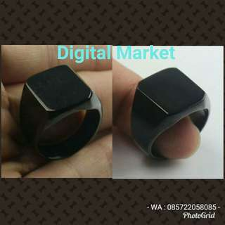 Cincin Titanium ( Full black ring)