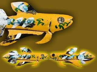 Fighting Fish (Made only 99pcs) LuangPhor Nuam  Wat PoShi Jarean  B.E 2547
