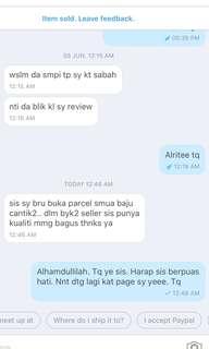 Tq. Buyers feedback 😊