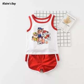 Paw Patrol Red Baby Sports Singlet Shorts Set #babydivision