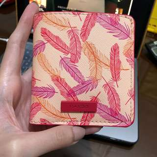 Mango Feather Printed Wallet