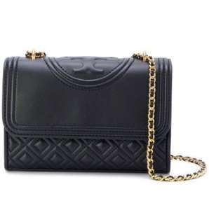 Tory Burch Fleming Small Convertible Shoulder Bag(Black)👜✨全新✨♥️非誠勿擾♥️