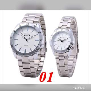 ✅Hot Sale Authentic Stainless Steel New york Army Couple Watch