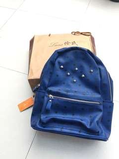 Brand new back pack in royal blue