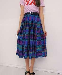 古著 金屬幾何 中長裙 半身裙 歐洲英國 復古80年代