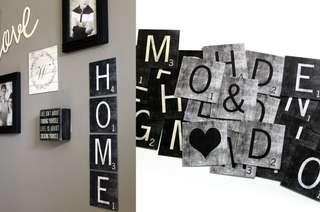 Metal Scrabble Tiles
