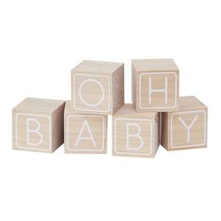 Oh Baby guest book building blocks