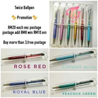 Twice ball pen