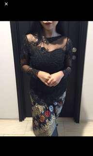 Kebaya lace labuchi black colour