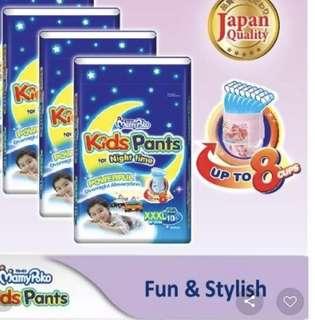 BNIB Mamy Poko Pants for Night Use XXL 18-35kg