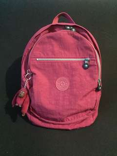 Authentic Kipling Backpack Pink