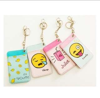 Card holder with key chain