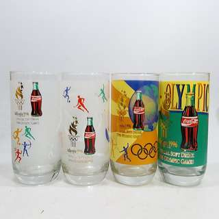 懷舊  1996年 亞特蘭大奧運會  可口可樂紀念版 玻璃水杯4只(不散賣)