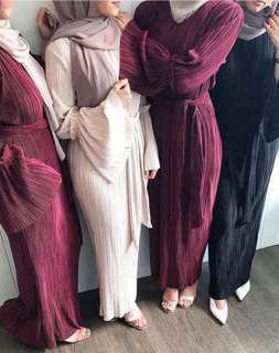 Humeera Pleated Abaya Dress