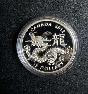 加拿大2010年龍年1安士銀幣