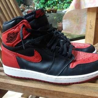 "Air Jordan 1 OG BRED ""BANNED"" 2016 ORIGINAL"