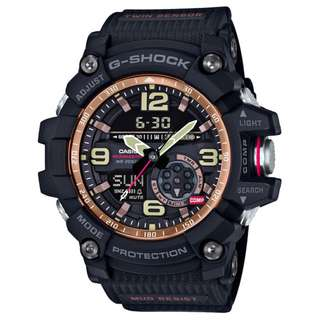 only hk$1599, 100% newCASIO G-SHOCK Vintage Black & Gold MUDMASTER GG-1000RG-1AJF Mens Japan import手錶