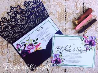 Die Cut Invitation Pocket Cover
