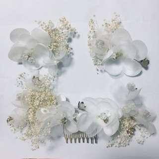 新娘結婚頭花髮飾 (1套3個) / Bridal Hair Accessory