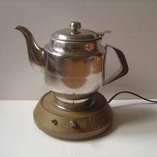川田 電熱茶壺 電煮開水壺 不鏽鋼電熱泡茶壺~