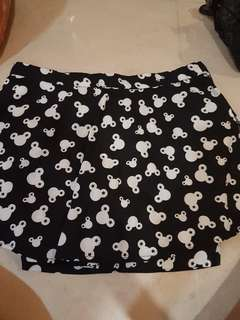 Skirt with safety shorts