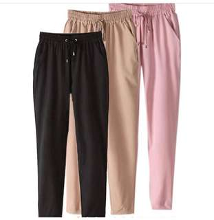 Lady elastic waist casual jogger pants trousers $9