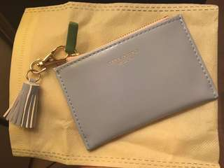 Korean baby blue purse and card holder