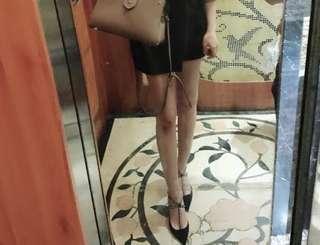 尖頭水鑽T带高跟凉鞋 diamond high heel shoes