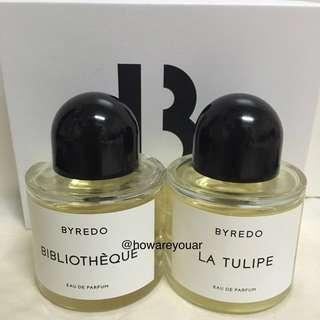 Byredo bibliotheque la tulipe 100ml