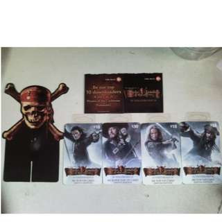 Pirates of the Carribbean collectibles cards