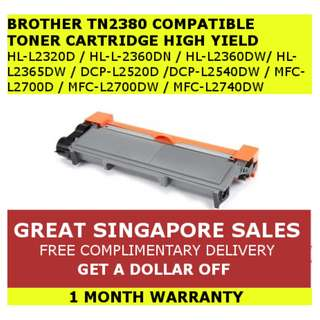 Brother TN2380/TN660 Compatible High Yield Black Toner Cartridge