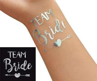 Team bride silver tattoo