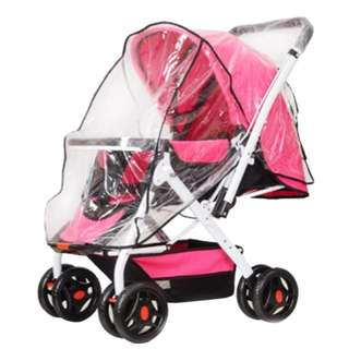 FOLDING TRANSPARENT BABY STROLLER RAIN-PROOF WIND-PROOF COVER 100.00 x 73.00 x 0.50 cm