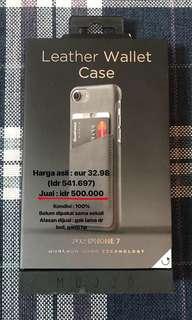 Mujjo leather wallet case utk iphone 7/8