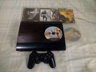 PS3 Super Slim 500 GB with 7 Original Games Not Jailbroken