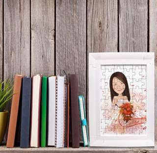 Personalized Caricature Puzzle Display