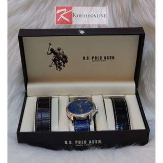 U.S. POLO ASSN MEN'S WATCH WITH INTERCHANGEABLE STRAPS