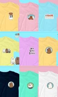 We Bare Bears Mini Design Shirts