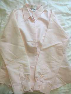 Pink striped button down- Size L