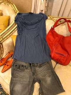 🚚 Aldofo Dominguez 灰藍色長版上衣