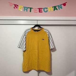 Tommy Hilfiger Vintage Yellow Striped Raglan T-shirt