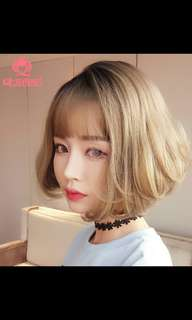 (NO INSTOCK!)Preorder korean short bobo ladies wig * waiting time 15 days after payment is made*chat to buy to order