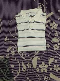 Polo Shirt UNIQLO Stripe Blue Size L