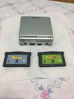 Nintendo Game Boy Advance SP with 2 games