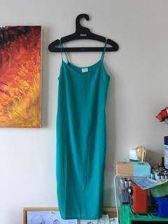 [SUNE] Estella Midi Dress in Teal Blue XS S 6 8