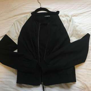 black&white bomber jacket