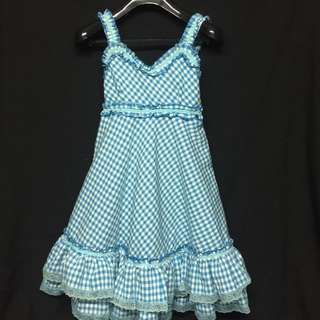VINTAGE 50s CHECKERED DRESS FOR RENTAL