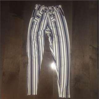 BNWOT Boohoo Striped Pants
