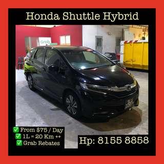 Honda Shuttle Hybrid - Grab Car Rentals, Uber welcomed